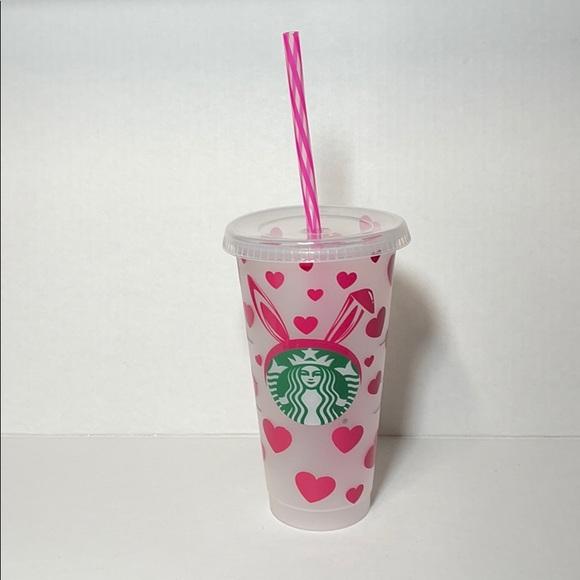 Valentine's Day Bad bunny design Starbucks cup.